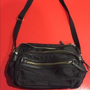 Black Vince Camuto nylon crossbody purse